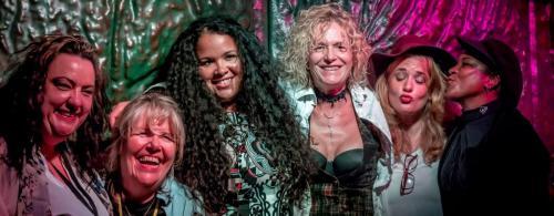 With my Blues sisters Kaz Hawkins, Connie Lush, Kyla Brox, Zoe Schwarz and Elles Bailey